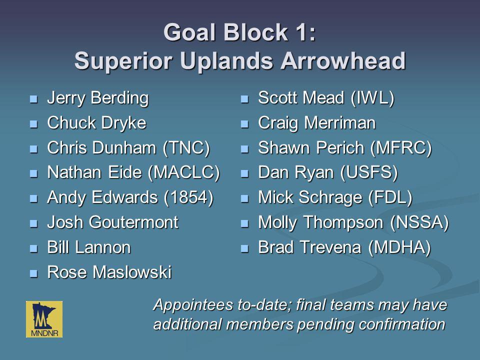 Goal Block 1: Superior Uplands Arrowhead