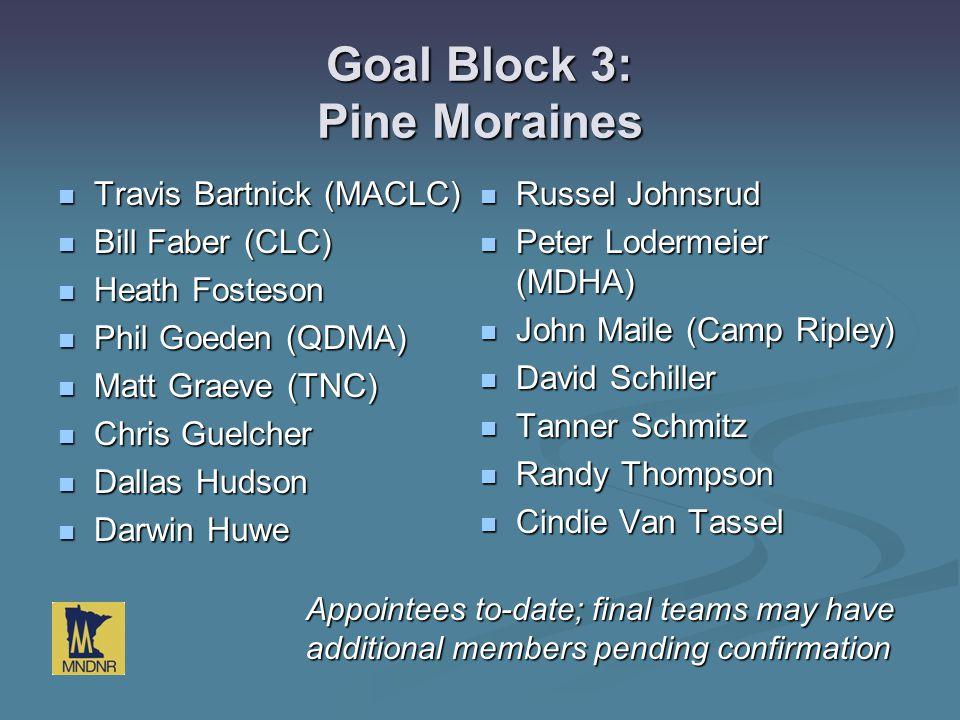 Goal Block 3: Pine Moraines