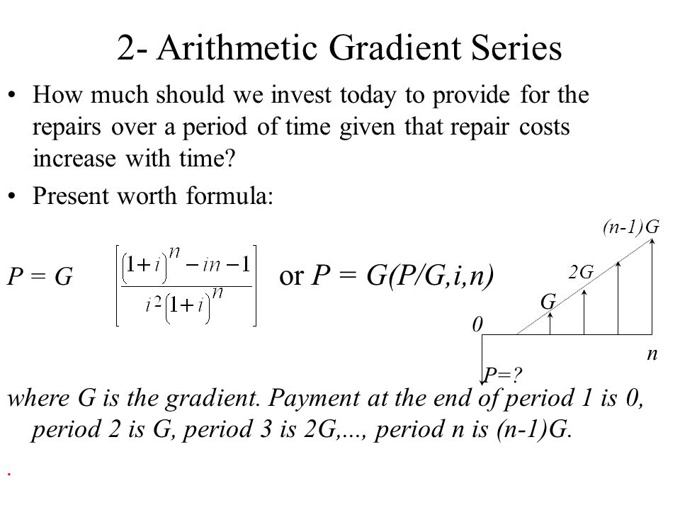 2- Arithmetic Gradient Series