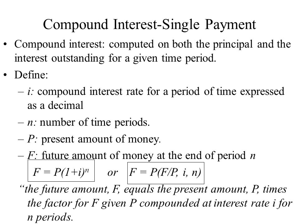 Compound Interest-Single Payment