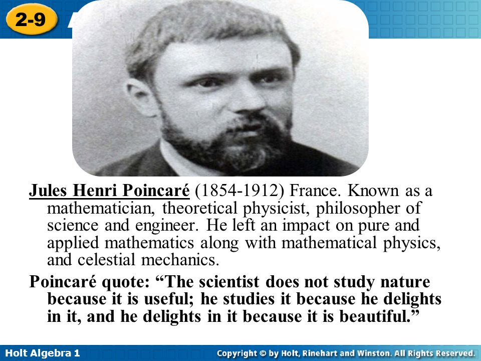 Jules Henri Poincaré (1854-1912) France