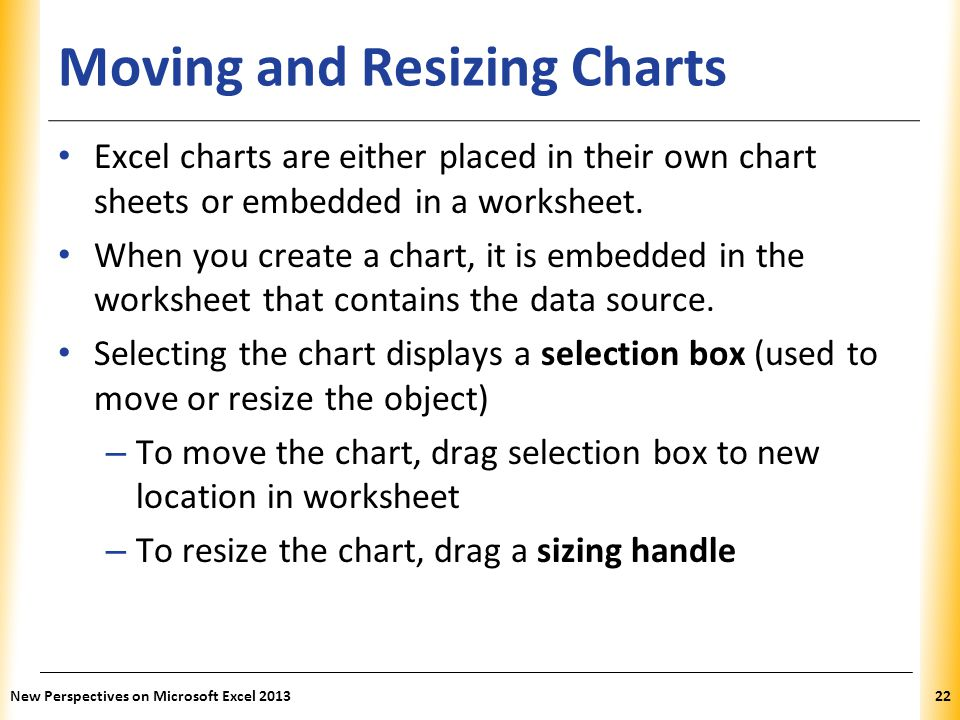 Moving and Resizing Charts