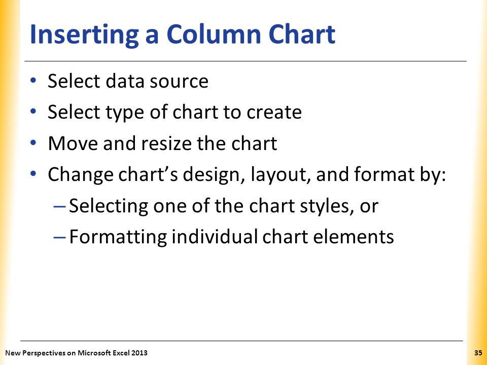 Inserting a Column Chart