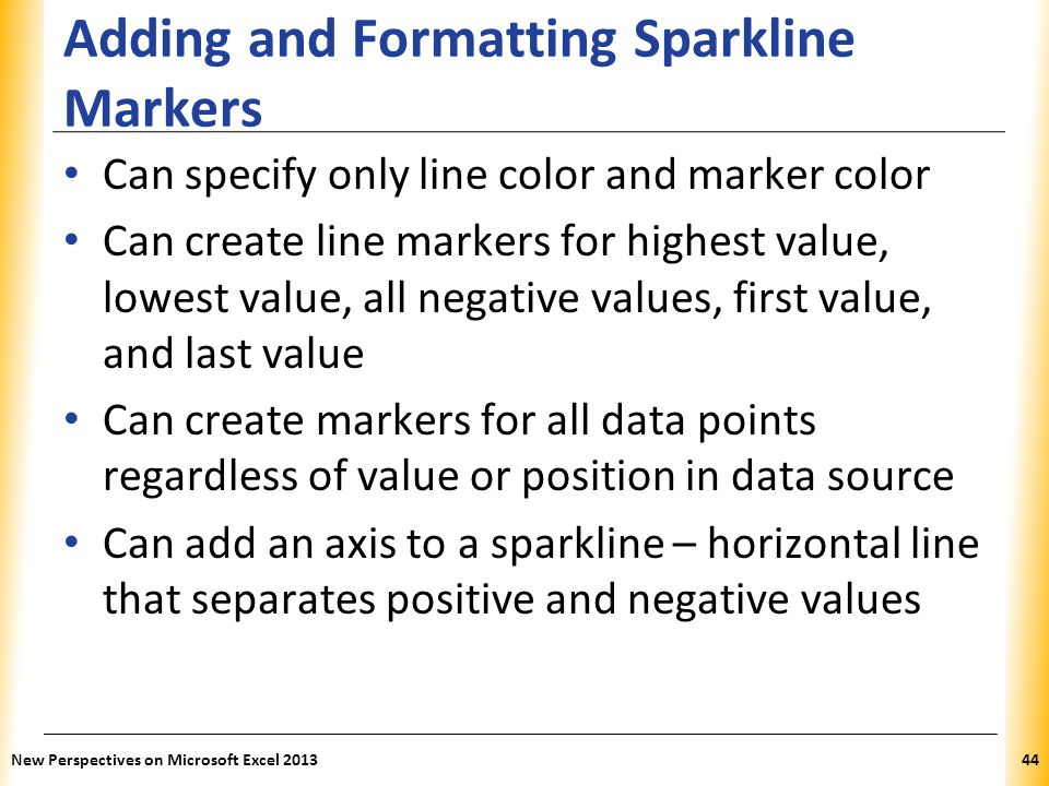 Adding and Formatting Sparkline Markers
