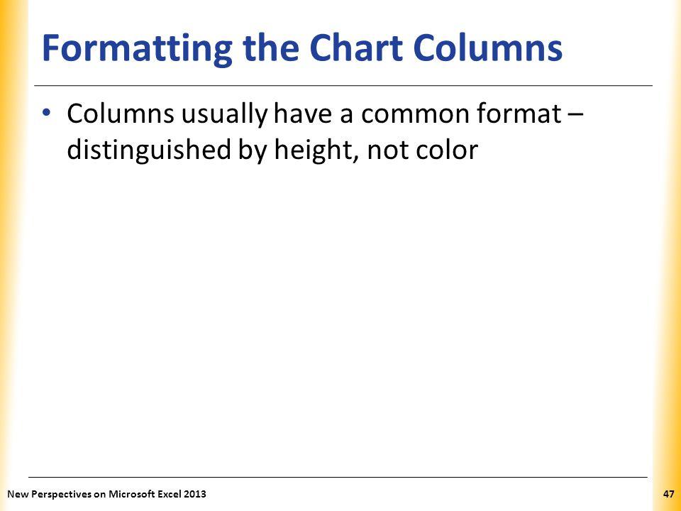 Formatting the Chart Columns