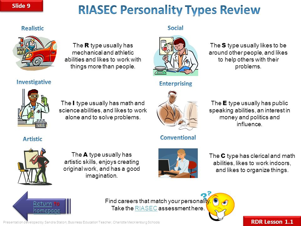 RIASEC Personality Types Review