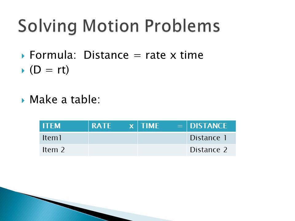 Solving Motion Problems