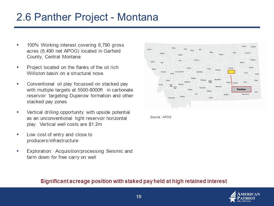2.6 Panther Project - Montana