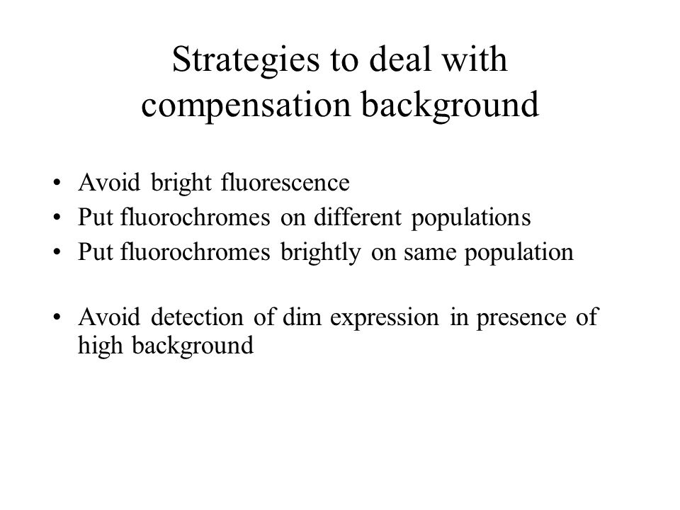 Strategies to deal with compensation background