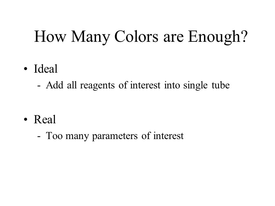 How Many Colors are Enough