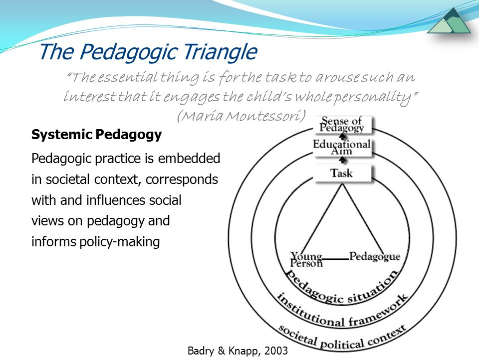 The Pedagogic Triangle