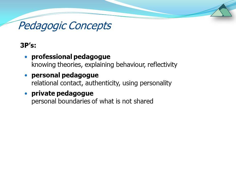 Pedagogic Concepts 3P's: