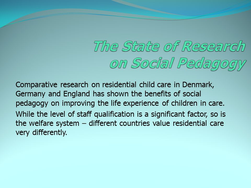 The State of Research on Social Pedagogy