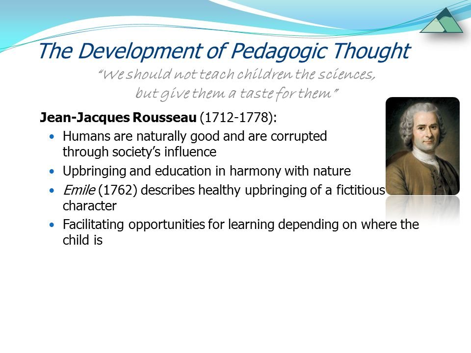 The Development of Pedagogic Thought