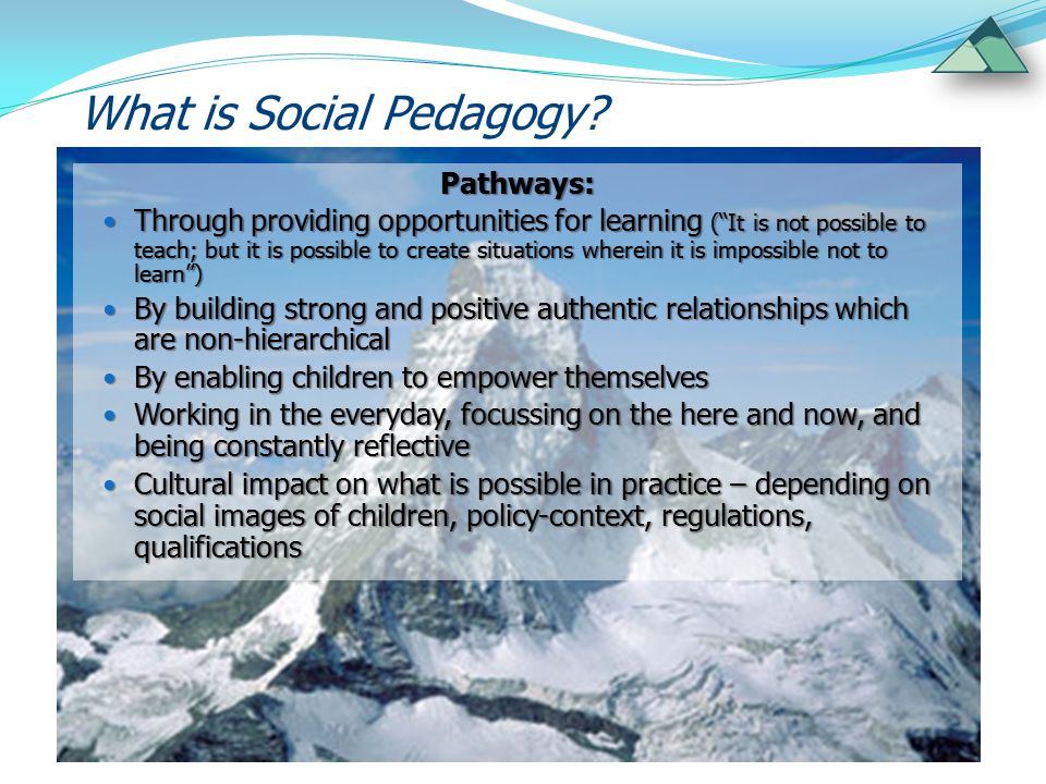 What is Social Pedagogy