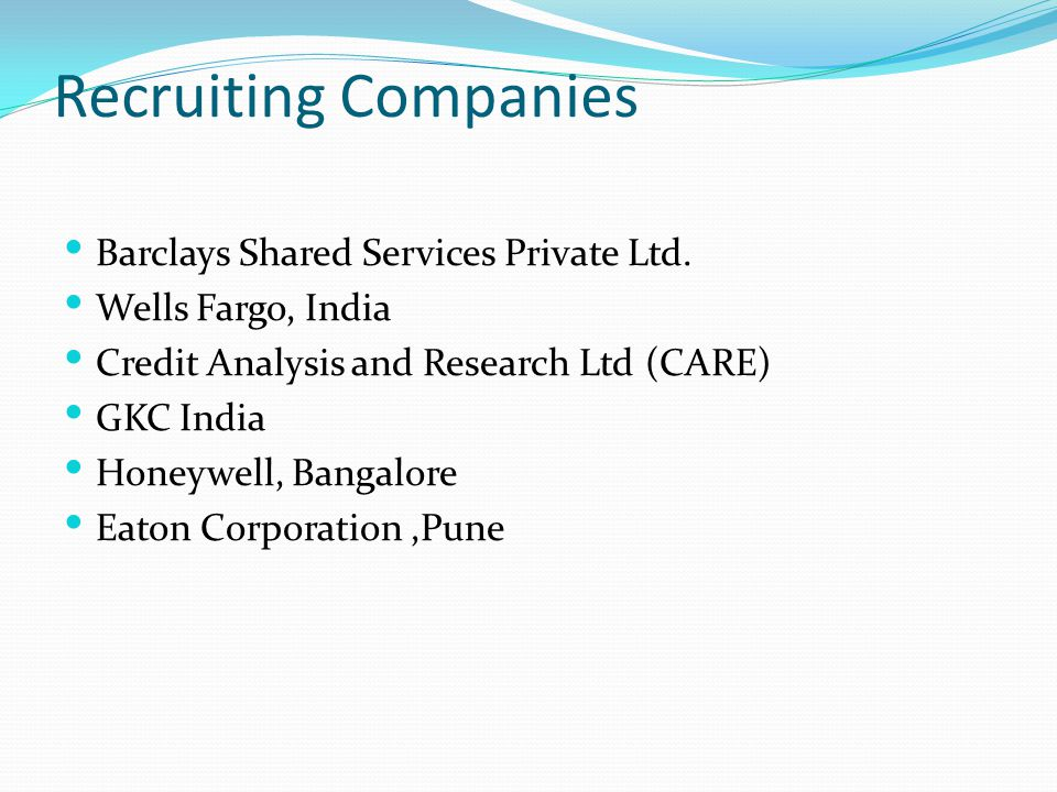 Recruiting Companies Barclays Shared Services Private Ltd.