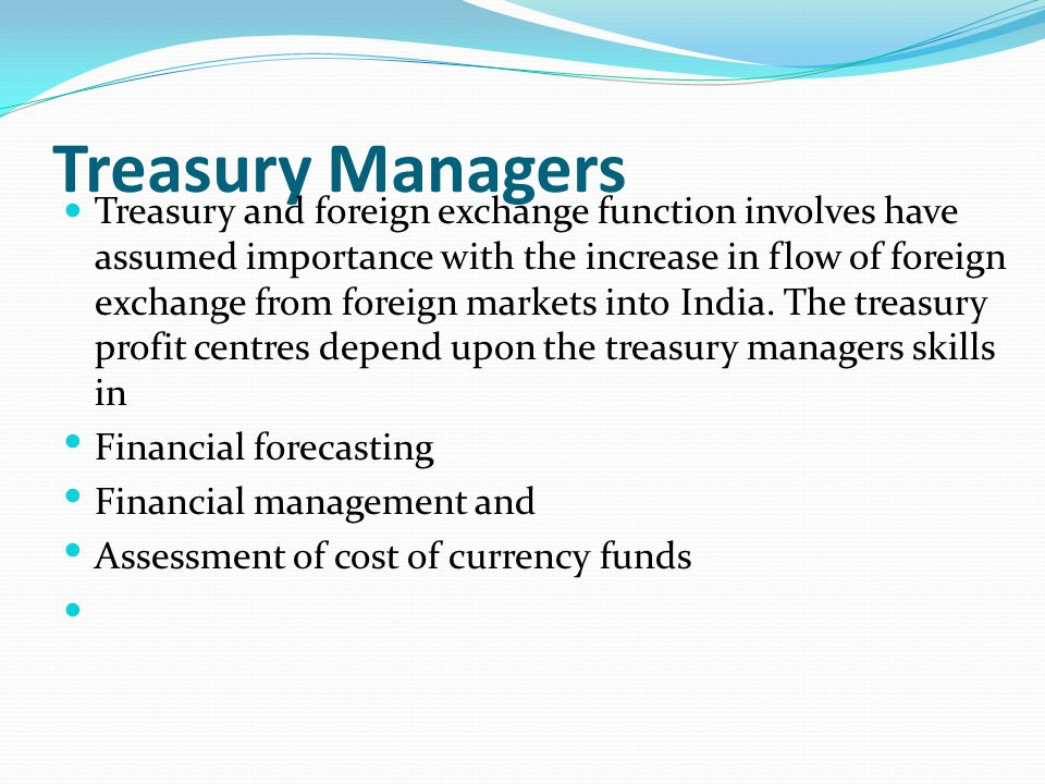 Treasury Managers
