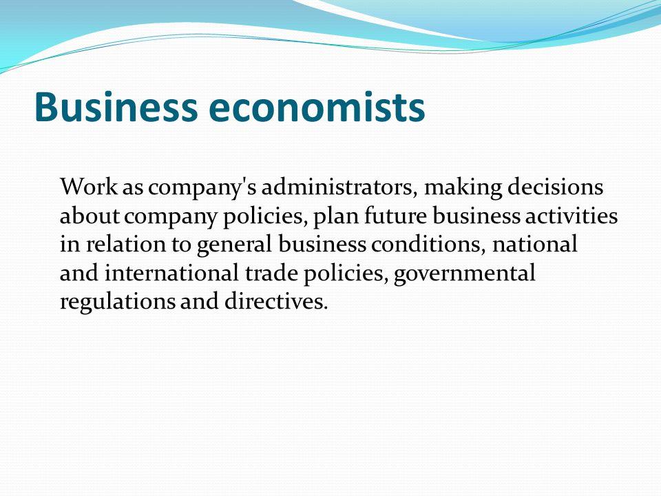 Business economists