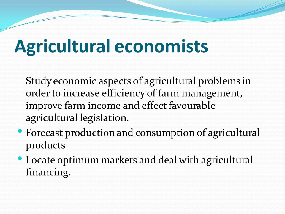 Agricultural economists