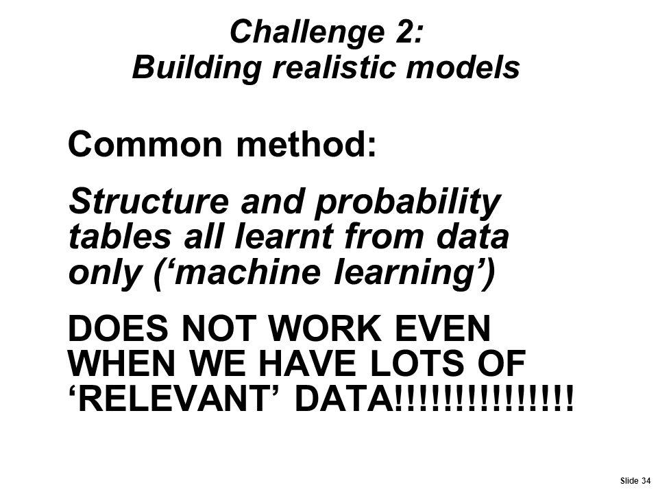 Challenge 2: Building realistic models