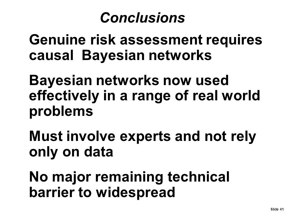 Genuine risk assessment requires causal Bayesian networks