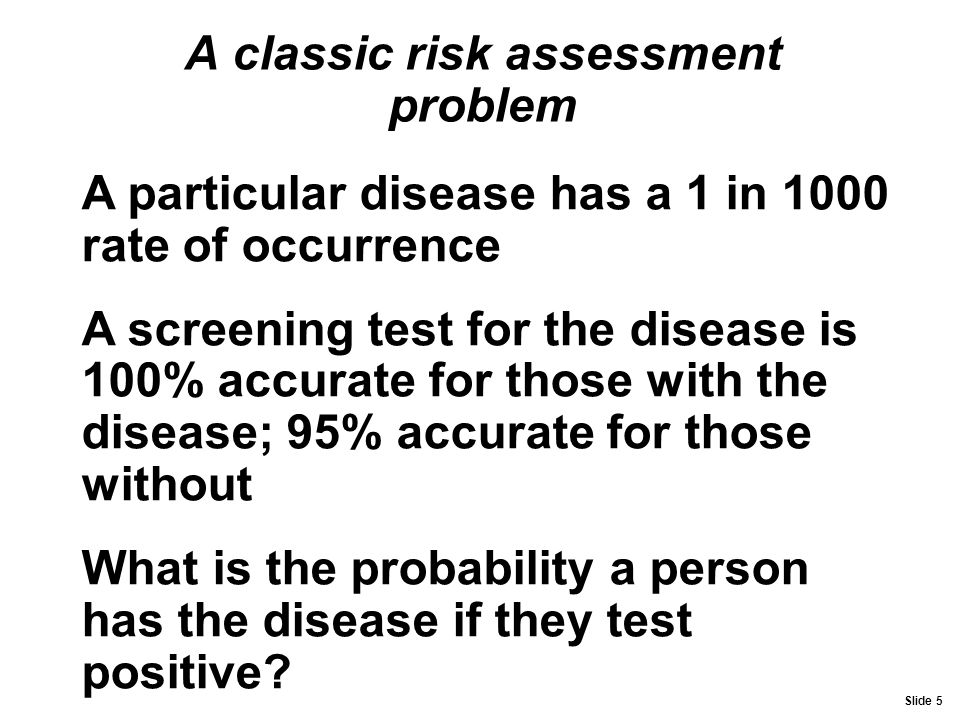 A classic risk assessment problem
