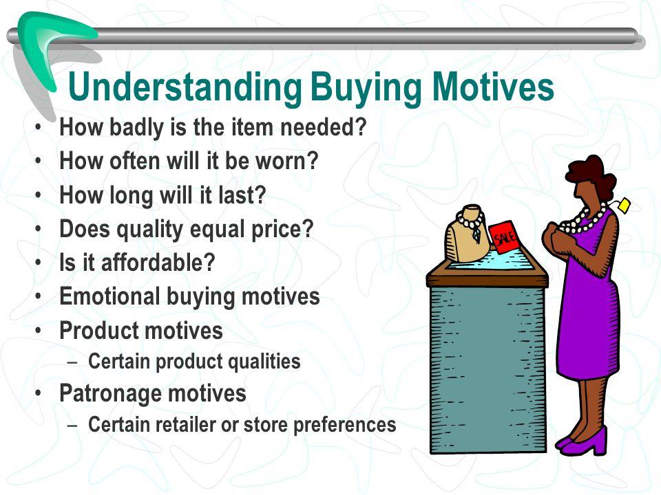 Understanding Buying Motives