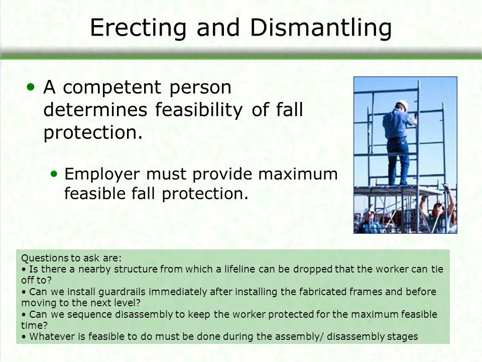 Erecting and Dismantling