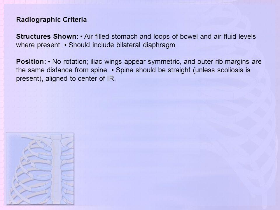 Radiographic Criteria