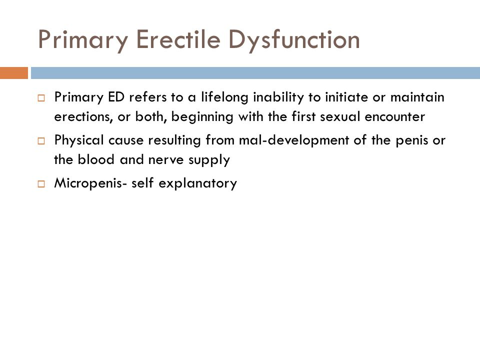 Primary Erectile Dysfunction