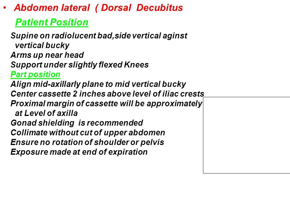 Abdomen lateral ( Dorsal Decubitus