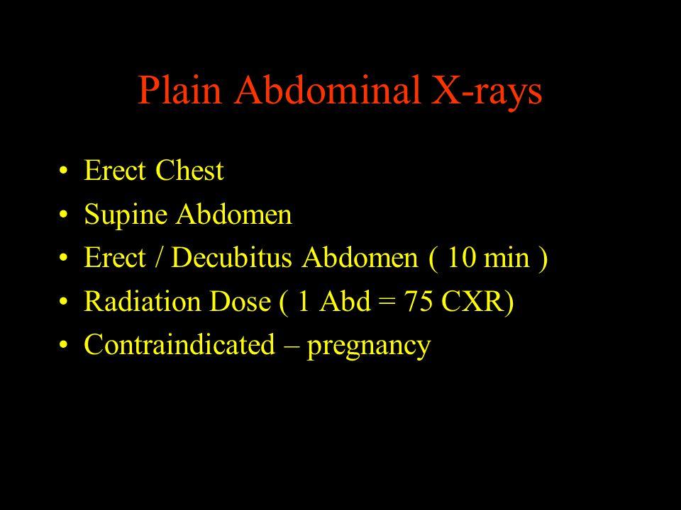 Plain Abdominal X-rays