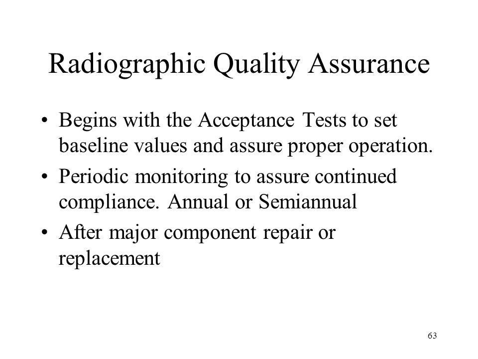 Radiographic Quality Assurance