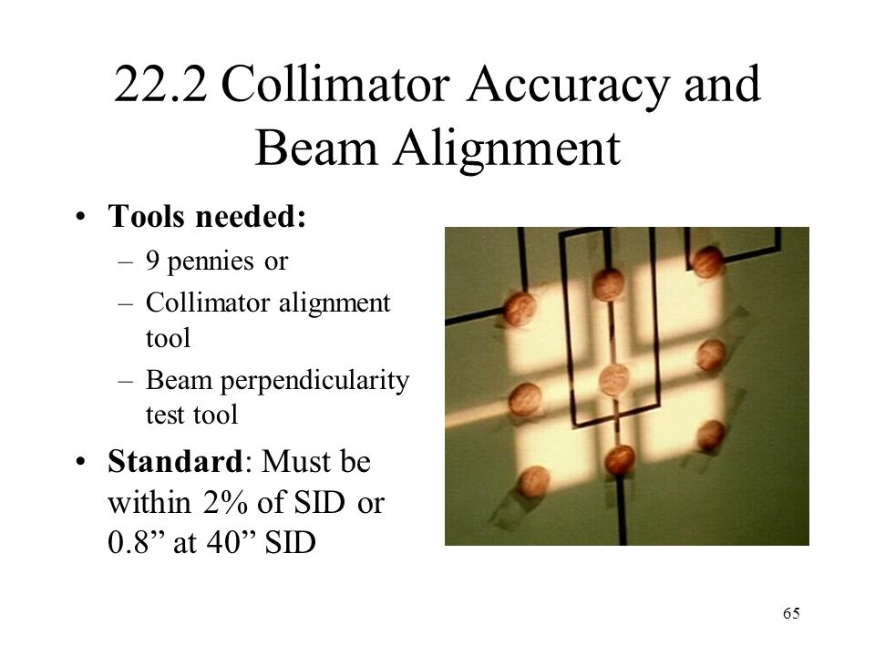 22.2 Collimator Accuracy and Beam Alignment