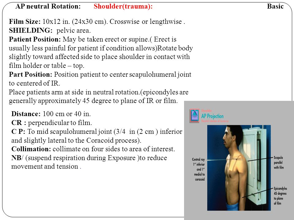 AP neutral Rotation: Shoulder(trauma): Basic