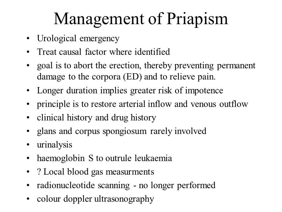 Management of Priapism