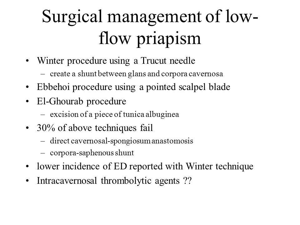 Surgical management of low-flow priapism