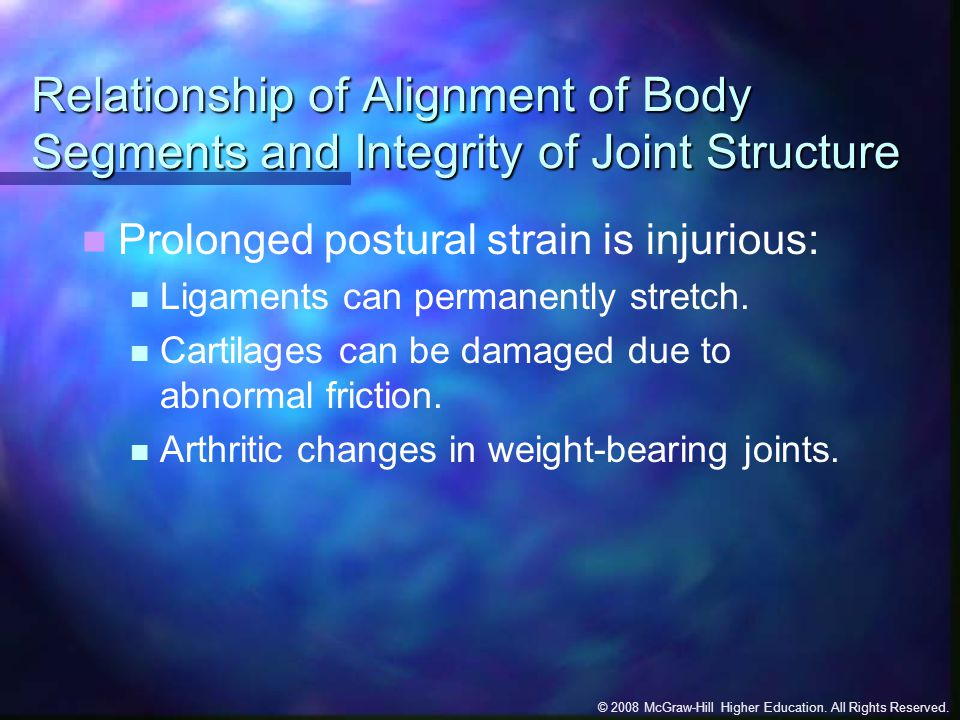Relationship of Alignment of Body Segments and Integrity of Joint Structure
