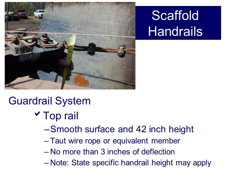 Scaffold Handrails Guardrail System Top rail