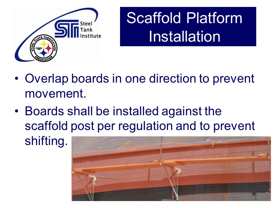 Scaffold Platform Installation