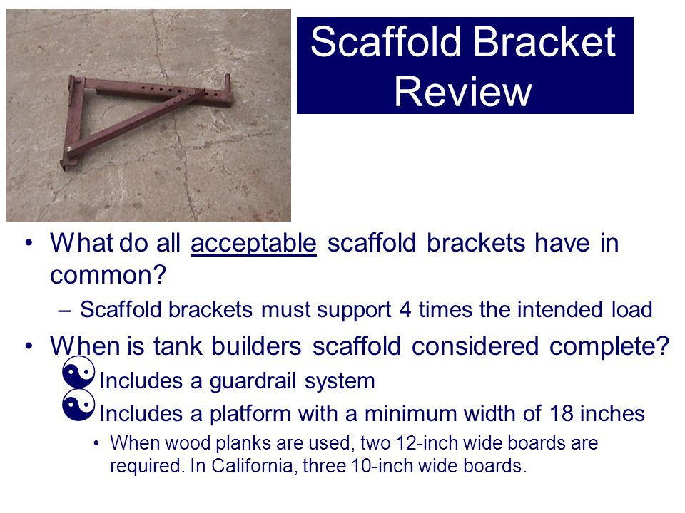 Scaffold Bracket Review