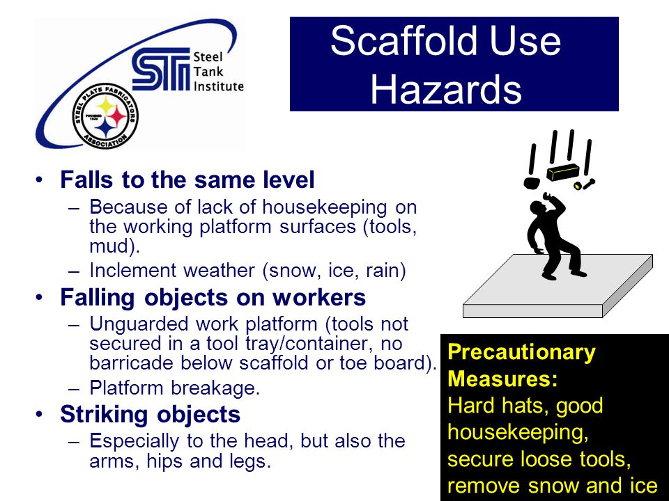 Scaffold Use Hazards Falls to the same level