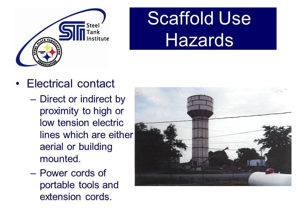 Scaffold Use Hazards Electrical contact