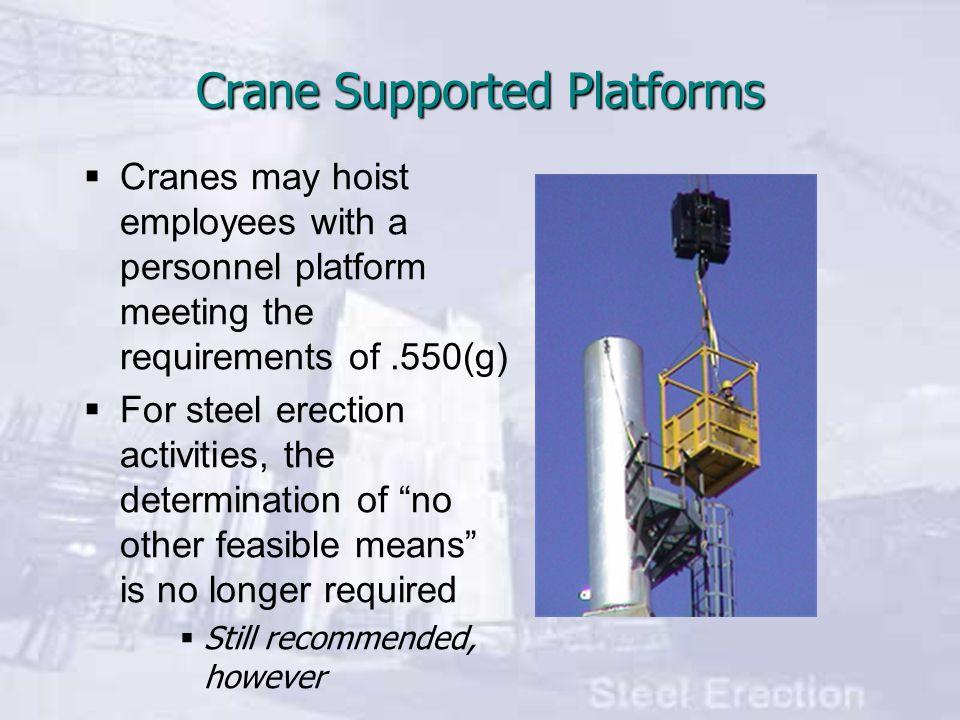 Crane Supported Platforms