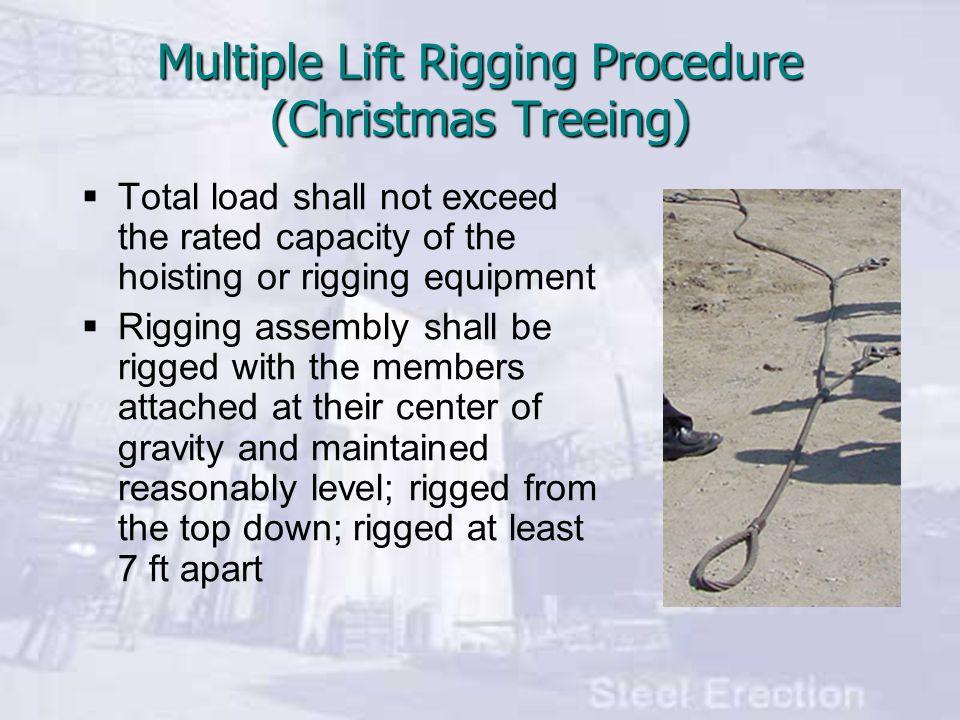 Multiple Lift Rigging Procedure (Christmas Treeing)