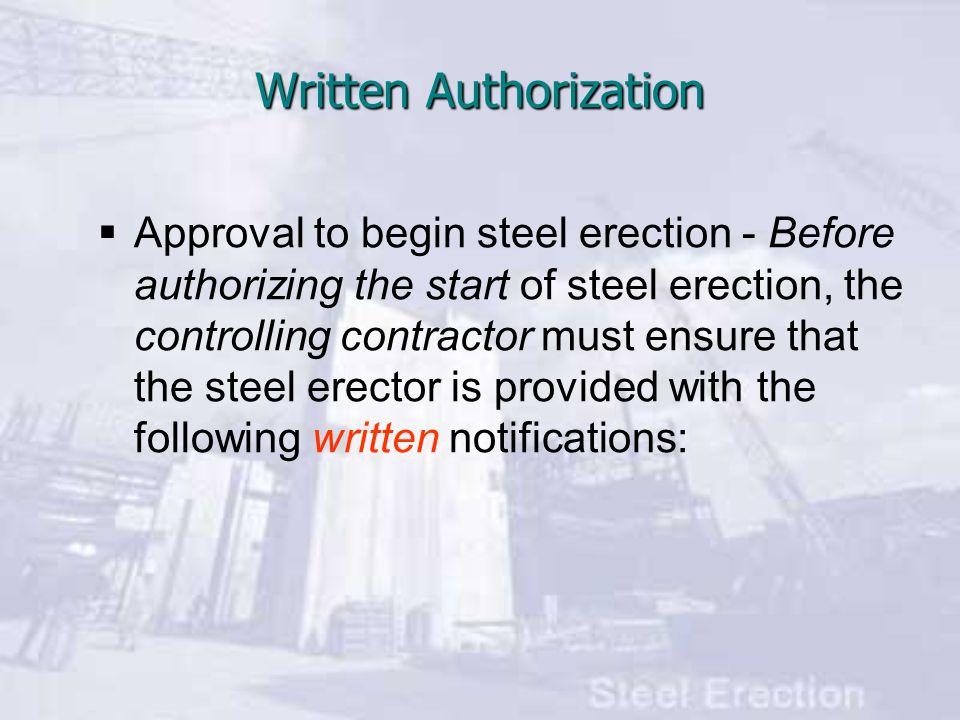 Written Authorization