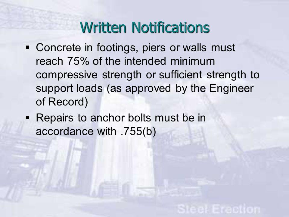 Written Notifications