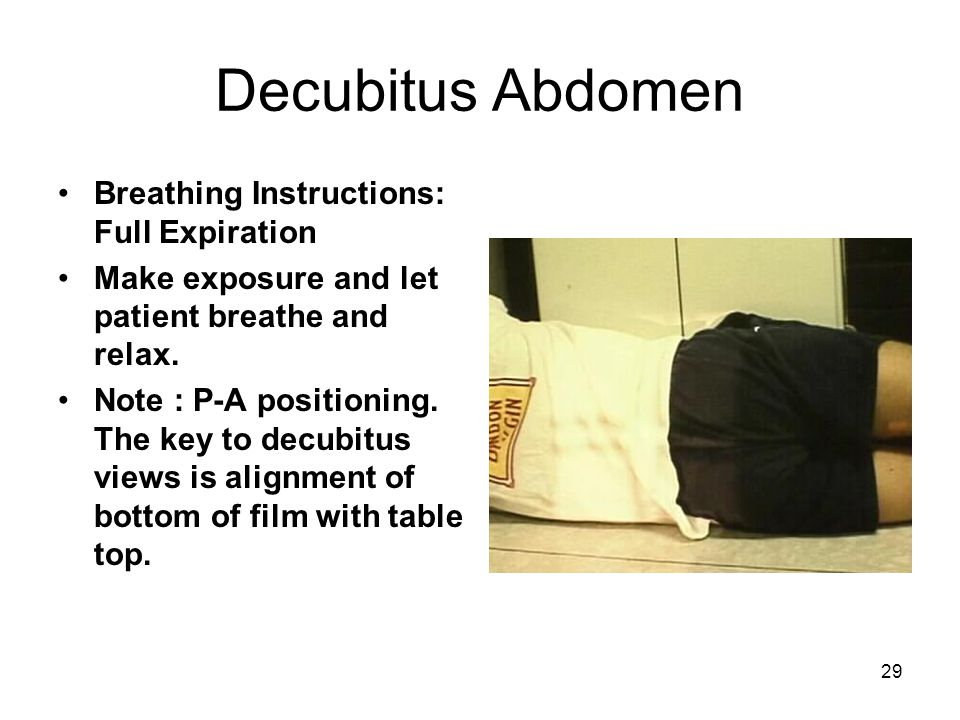 Decubitus Abdomen Breathing Instructions: Full Expiration