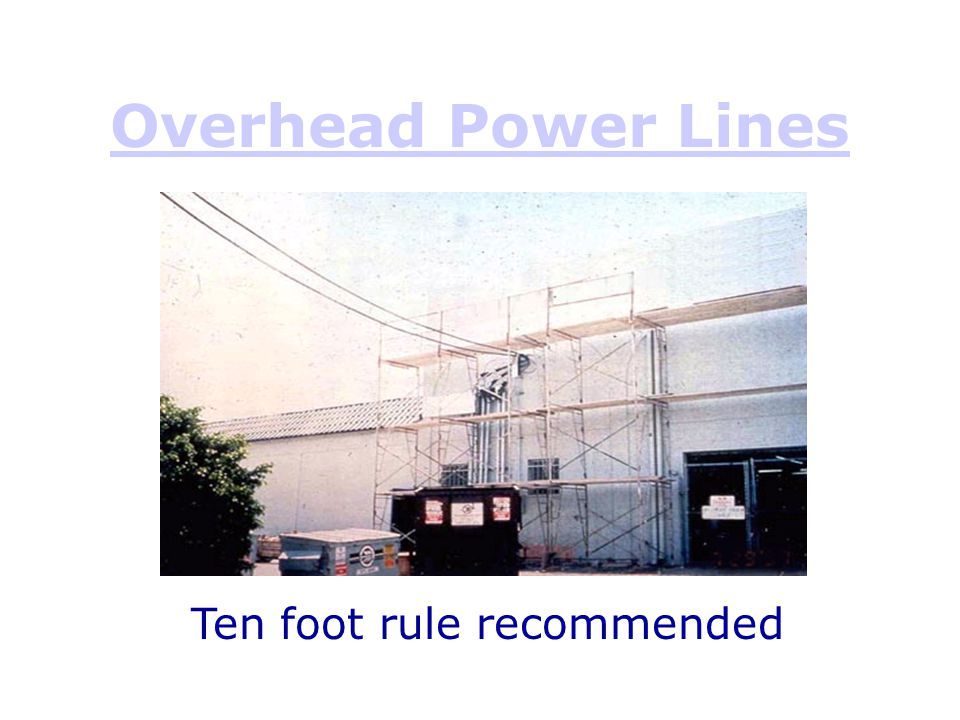 Ten foot rule recommended