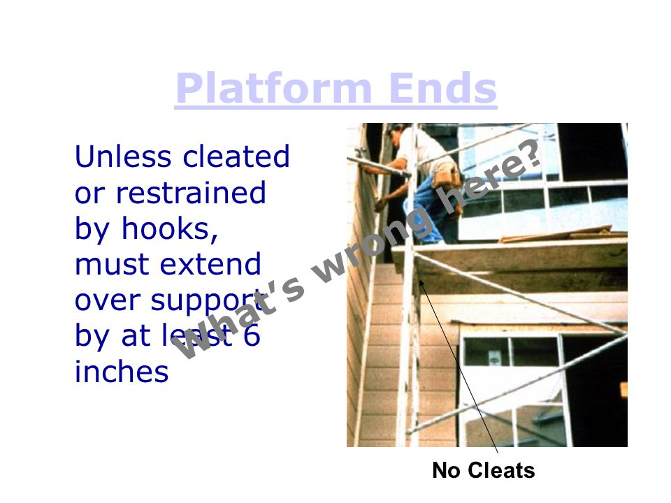 Platform Ends What's wrong here